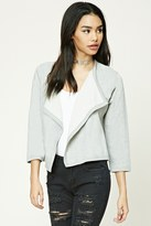 Forever 21 FOREVER 21+ Marled Draped Front Cardigan