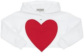 Simonetta Cotton Sweatshirt Hoodie W/ Heart