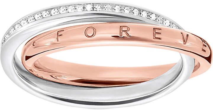 Thomas Sabo Together interlocking sterling silver and diamond ring