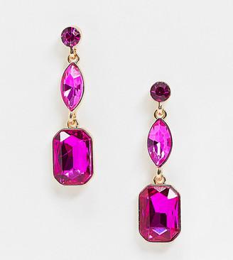 Accessorize Exclusive jewel drop earring in pink