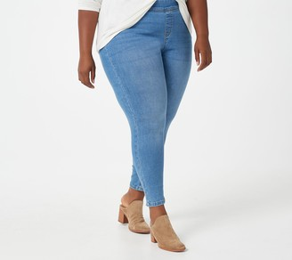 Denim & Co. Easy Stretch Petite Pull-On Jeggings