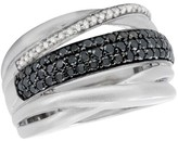 Effy Jewelry Effy 925 Black Diamond Ring, .77 TCW