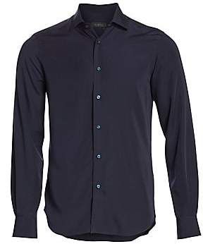 Saks Fifth Avenue Solid Tencel Cotton Shirt