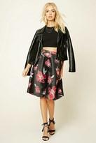 Forever 21 FOREVER 21+ Floral Print Knee-Length Skirt
