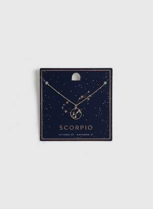 Dorothy Perkins Rose Gold Scorpio Sign Ditsy Necklace