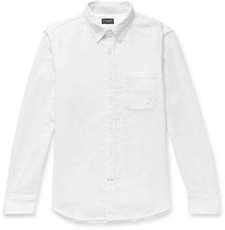 Club Monaco Slim-Fit Button-Down Collar Slub Woven Shirt