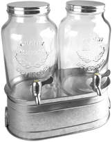 Artland Oasis Galvanized Tin Dual Beverage Dispenser Set