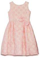 Us Angels Girls' Dot Jacquard Dress - Little Kid