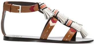 Tory Burch strappy tassel sandals