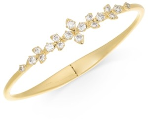 Eliot Danori Gold-Tone Crystal Layla Floral Hinge-Spring Bracelet, Created for Macy's