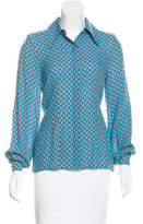 Jonathan Saunders Printed Button-Up Top