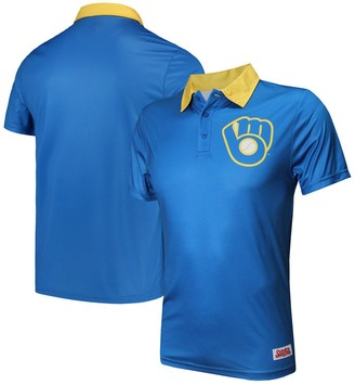 Stitches Men's Royal Milwaukee Brewers Sublimated Polo