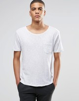 Selected Flase O-neck T-shirt In White