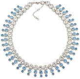 Carolee Silver-Tone Blue & Clear Crystal Collar Necklace