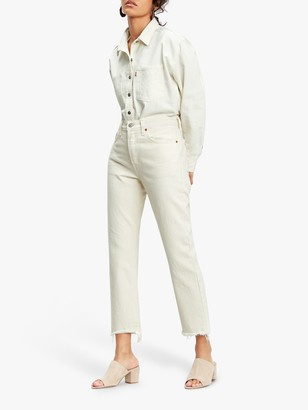 Levi's 501 Original Cropped Jeans, Neutral Ground