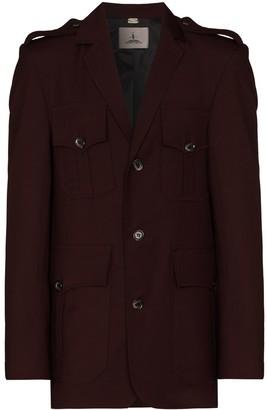 Boramy Viguier Single-Breasted Wool Military Jacket