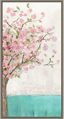 Amanti Art Spring Wakening Cherry Blossom Tree Framed Canvas Wall Art