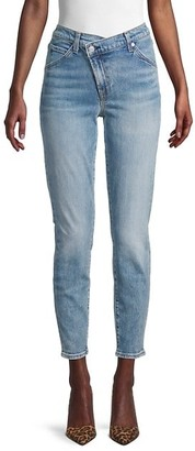 7 For All Mankind Asymmetric Ankle Jeans