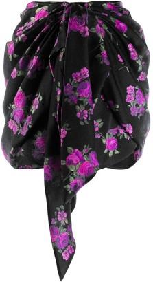 Magda Butrym Floral Print Short Skirt