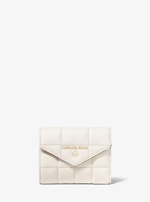 MICHAEL Michael Kors MK Medium Quilted Leather Envelope Wallet - Lt Cream - Michael Kors