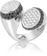 Ileana Creations Azhar Black and White Contrarie' Ring
