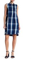 Max Studio Sleeveless Partial Button Plaid Dress