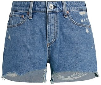 Rag & Bone Dre Low-Rise Distressed Denim Shorts