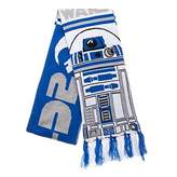 Star Wars R2D2 Droid Blue And Grey Jacquard Scarf