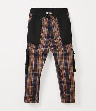Vivienne Westwood Django Cargo Trousers Navy Tartan