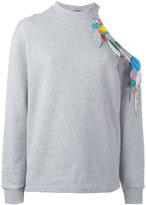 Christopher Kane sequin detail sweatshirt - women - Cotton/Polyester - 40
