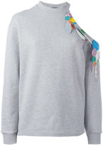 Christopher Kane sequin detail sweatshirt - women - Cotton/Polyester - S