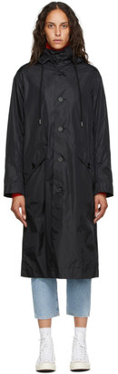 Opening Ceremony Black Logo Windbreaker Coat
