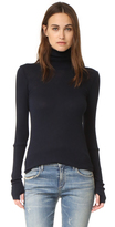 Enza Costa Cashmere Cuffed Turtleneck
