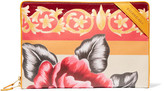 Balenciaga Arena Printed Textured-leather Pouch - Orange