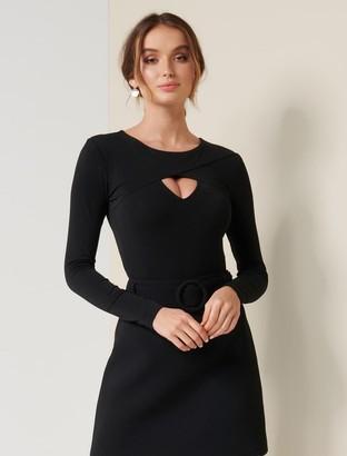 Forever New Karen Wrap Keyhole Bodysuit - Black - m