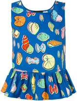 Moschino multi-print peplum tank - women - Cotton/Other fibres - 44
