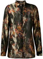 Etro embroidered shirt - women - Silk/Viscose/Metallized Polyester - 40