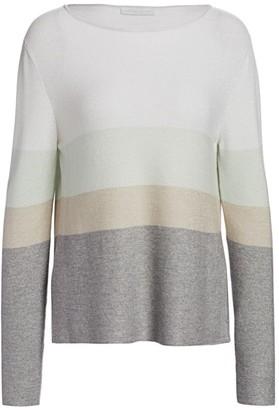 Fabiana Filippi Striped Wool & Lurex Boatneck Sweater