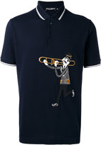 Dolce & Gabbana graphic print polo top - men - Cotton - 46