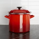 Crate & Barrel Le Creuset ® 8-Qt. Cerise Red Enamel Stock Pot with Lid