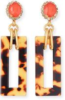 Thumbnail for your product : Elizabeth Cole Effie Link-Drop Earrings