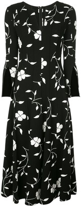 Oscar de la Renta floral silhouette dress