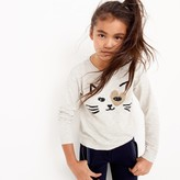 J.Crew Girls' kitty love popover sweater