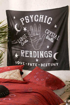 Deny Designs Peach And Gold For Deny Psychic Readings Tapestry