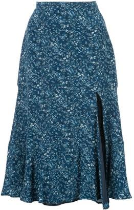 Altuzarra Clementine ruffled floral-print skirt