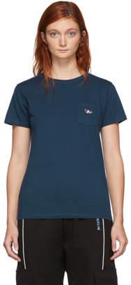 MAISON KITSUNÉ Blue Fox Patch Pocket T-Shirt