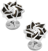 Ox and Bull Trading Co. Black Geometric Flower Cufflinks