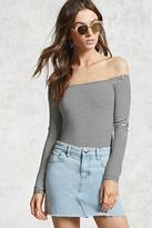Forever 21 Frayed Denim Mini Skirt