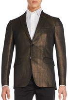 Etro Metallic Cotton-Blend Sportcoat