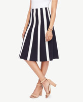 Ann Taylor Petite Striped Flare Sweater Skirt